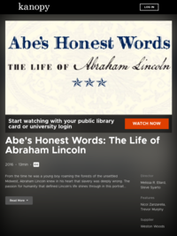 Abe's Honest Words: The Life of Abraham Lincoln | Kanopy