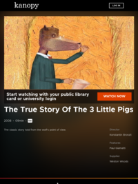 The True Story Of The 3 Little Pigs | Kanopy