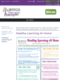 Healthy Learning at Home