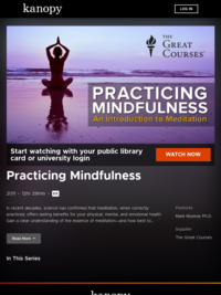 Practicing Mindfulness | Kanopy