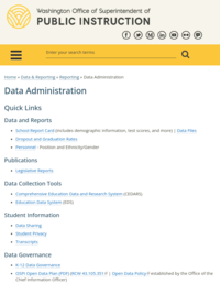 Washington's Office of Superintendent of Public Instruction (OSPI)