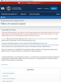 U.S. Department of Veterans Affairs, Office of General Counsel