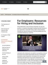 For Employers: Resources on Hiring and Inclusion- DeafTEC