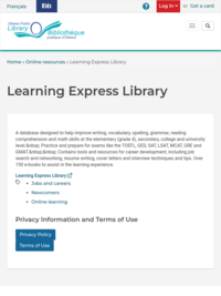 Learning Express Library | Ottawa Public Library