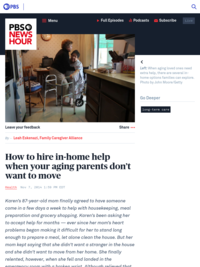 How to hire in-home help when your aging parents don't want to move