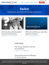 Edutech | A World Bank Blog