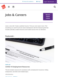 Jobs & Career - Library Online Resources