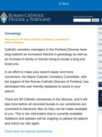 Maine Catholic Cemetery Committee online database
