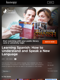 Learning Spanish: How to Understand and Speak a New Language | Kanopy
