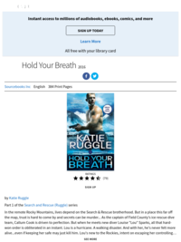 Hold Your Breath by Katie Ruggle (first book in Search and Rescue)