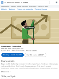 Investment Evaluation | Lynda.com
