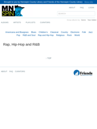 MNspin: Rap, Hip-Hop, and R and B