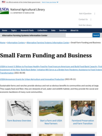 Small Farm Funding and Business | Alternative Farming Systems Information Center| NAL | USDA