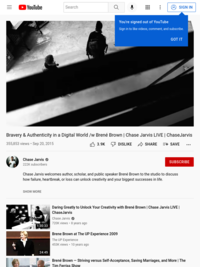 Bravery & Authenticity in a Digital World /w Brené Brown | Chase Jarvis LIVE | ChaseJarvis - YouTube