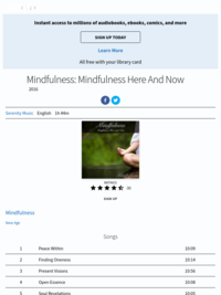 Mindfulness Here and Now |Hoopla