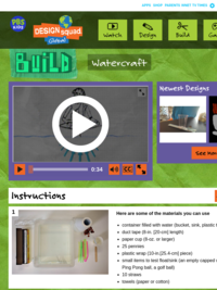 PBS Kids: build a watercraft