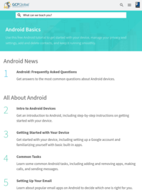 Free Android Basics Tutorial at GCFGlobal