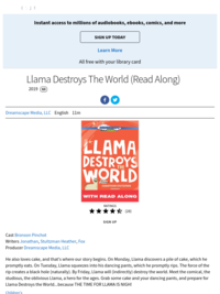 Llama Destroys the World | Hoopla Kids