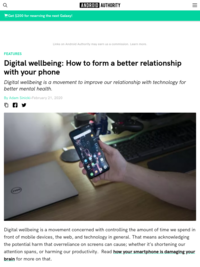 Digital wellbeing explained: Your phone and your brain - Android Authority