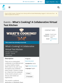 What's Cooking? A Collaborative Virtual Test Kitchen