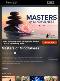 Masters of Mindfulness | Kanopy
