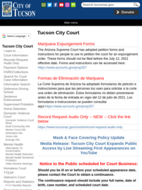 Tucson City Court | Official website of the City of Tucson