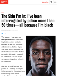 The Skin I'm In - Desmond Cole in Toronto Life