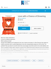 Love with a Chance of Drowning - Hamilton Public Library - OverDrive