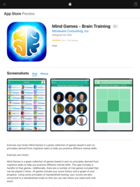 ‎Mind Games - Brain Training on the App Store