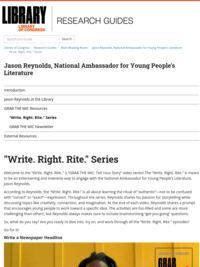 Write. Right. Rite. with Jason Reynolds