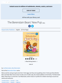 The Berenstain Bears' New Pup by Stan Berenstain