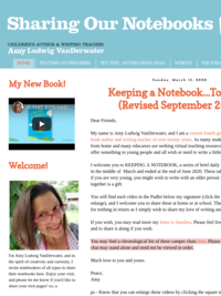 Amy Ludwig VanDerwater: Sharing Our Notebooks Beginning on March 16