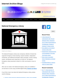 National Emergency Library : Free Texts : Free Download, Borrow and Streaming : Internet Archive