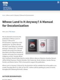 Whose Land Is It Anyway? A Manual for Decolonization