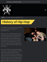 History of Hip Hop w/The Rub