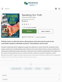 Speaking Our Truth - British Columbia Libraries - OverDrive