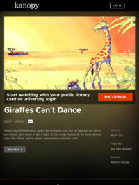 Giraffes Can't Dance | Kanopy Kids