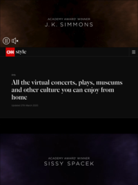 Attend virtual concerts and even more virtual museum tours