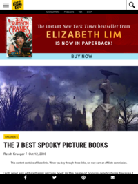 Bookriot recommended Best Spooky Picture Books