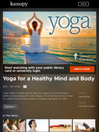 Yoga for a Healthy Mind and Body | Kanopy