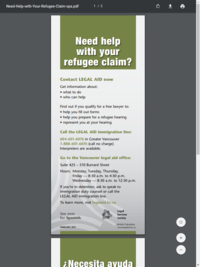 Help With Your Refugee Claim - Spanish
