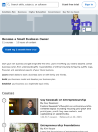 Lynda.com Learning Path - Becoming a Small Business Owner