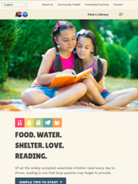 Food. Water. Shelter. Love. Reading.