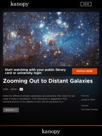 Zooming Out to Distant Galaxies | Kanopy