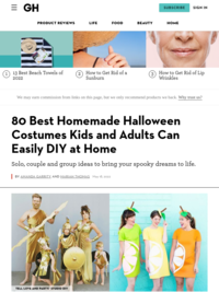 40 Best Homemade Halloween Costumes