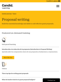 Proposal Writing Training - GrantSpace