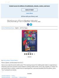 Dictionary For a Better World by Irene Latham & Charles Waters (KIDS)