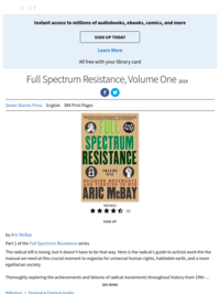 Full Spectrum Resistance by Aric McBay