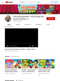 TheLearningStation - Kids Songs and Nursery Rhymes  - YouTube