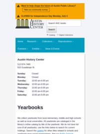 AHC Yearbook Collections